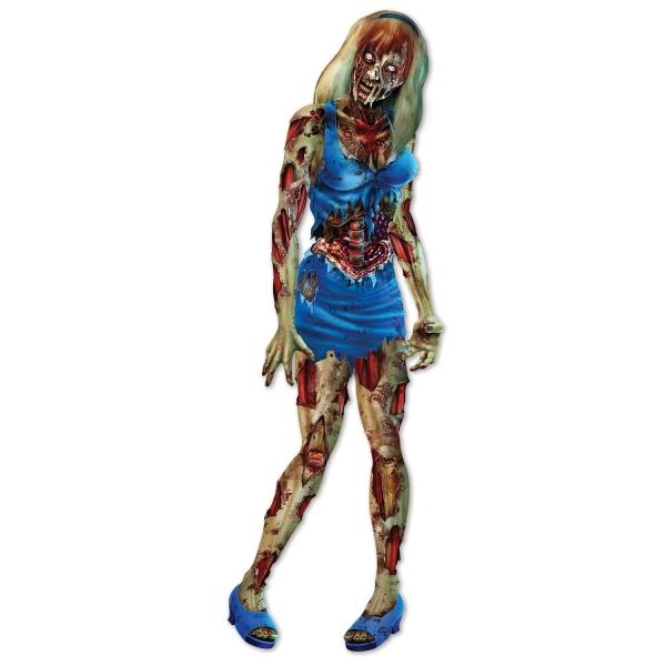 Riesen Cutout Figur Zombie Girl - Halloween Deko