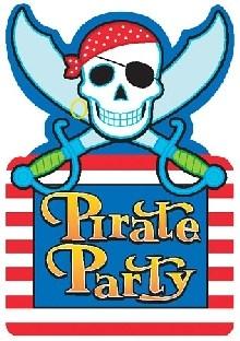 Party-Extra Einladungskarten Pirtatenparty, 8er Pack