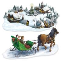 Dekofolien Verschneites Märchenland, 2er Pack