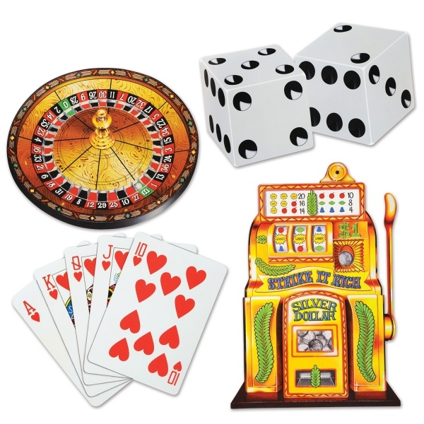 Party-Extra Cutout Set Spielcasino, 4-teilig