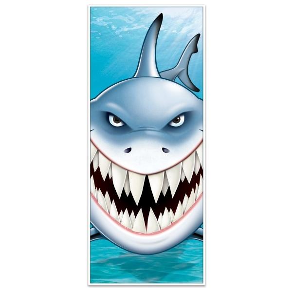 Tür-Dekofolie Weißer Hai