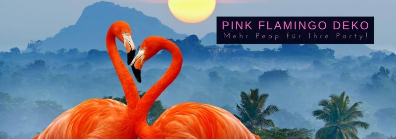 Pink Flamingo Deko - mehr Pepp fuer Ihre Party!