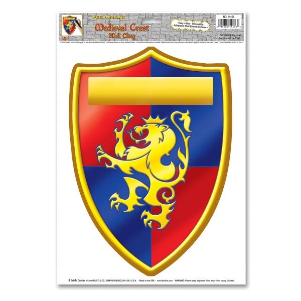 Folienaufkleber Mittelalter, beschriftbar - Ritterwappen Deko