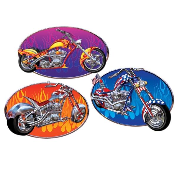 Cutout Set Coole Chopper - Motorrad Deko