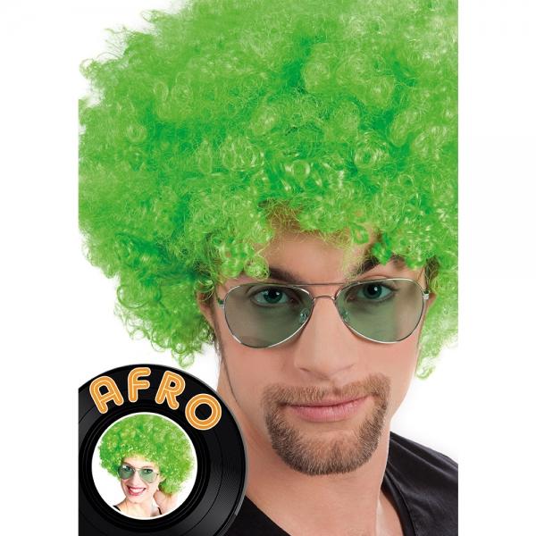 Afro Perücke in Grün