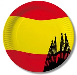 Pappteller Spanien - Länder Tischdeko