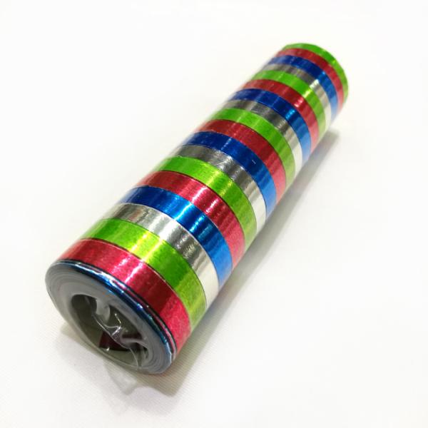 Folienluftschlangen, bunt - Metallic-Faschingsdeko