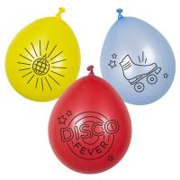 Luftballon-Set Disco Fever, 6er Pack