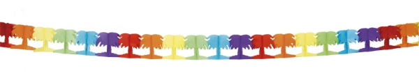 Palmengirlande Beachparty, bunt, 4 m lang