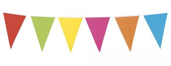 Party-Extra Wimpelkette bunt - Faschingsdeko