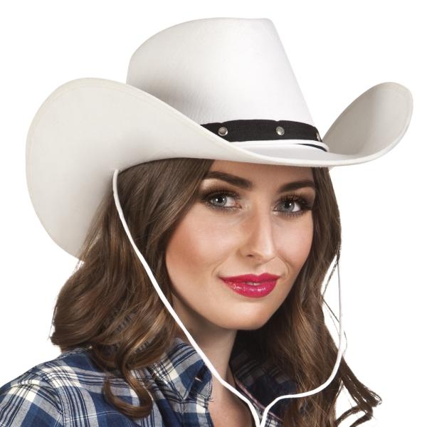 Cowboyhut Texas Star, weiß - Wild West Zubehör