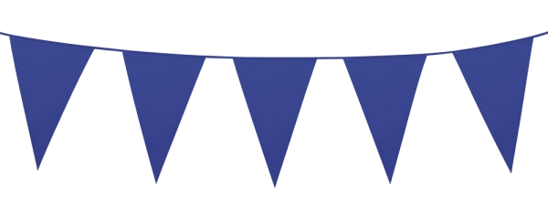 Party-Extra XL-Wimpelkette, blau, 10 Meter