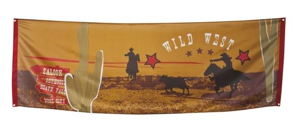 Riesen Stoff Banner Wild West