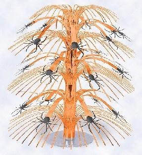 Mini-Tischkaskade Halloween-Spinnen, 21cm