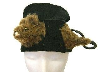 Mütze mit Gruselratte - Halloween Accessoires