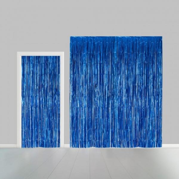 Tuervorhang blau - Partydeko
