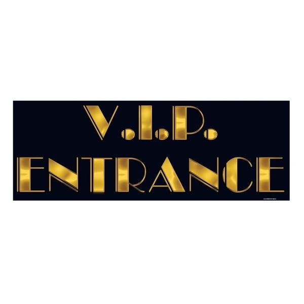 Party-Extra Dekoschild VIP Entrance