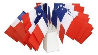 Papier-Fähnchen Frankreich - Laender Deko