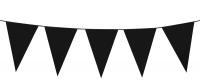 Mini-Wimpelkette Schwarz, 3 Meter