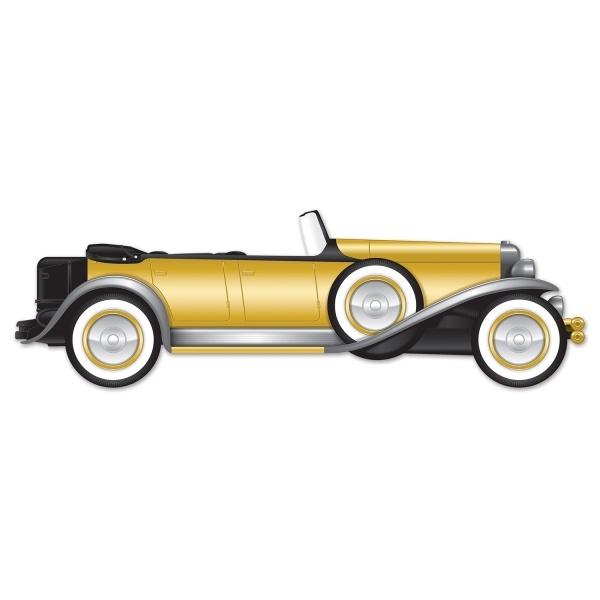 XL Wanddeko Goldene 20er Roadster, 130 cm Länge