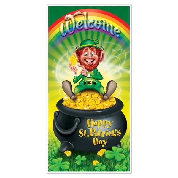 Party-Extra Tür-Dekofolie Leprechaun - St. Patricks Day Irland Deko