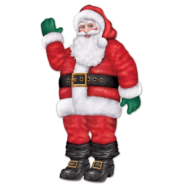 Cutout-Figur Nikolaus - Weihnachtsdeko
