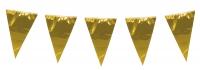 XXL Metallic Wimpelkette Pure Gold, 10 Meter