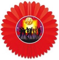Dekofächer Disco-Party, 60 cm Durchmesser
