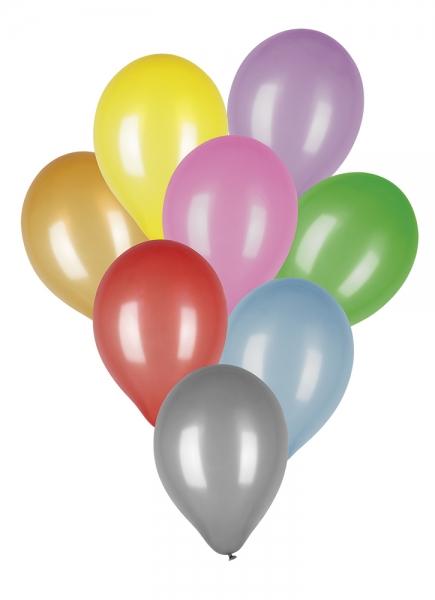 Luftballons Neon, 8er Pack, 8 Farben