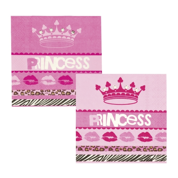 Mini-Servietten Party-Princess, 12er Pack.