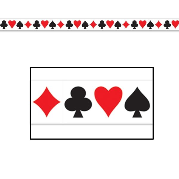 Absperrband Poker Abend - Las Vegas Casino Deko