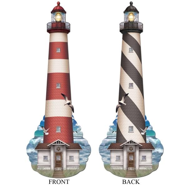 Riesen Cutout Leuchtturm - Maritime Partydeko
