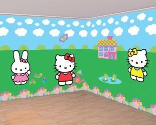Dekofolien Set Hello Kitty - Kindergeburtstagsdeko