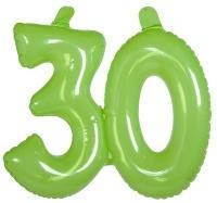 Aufblasbare Zahl, grün, 38cm 18