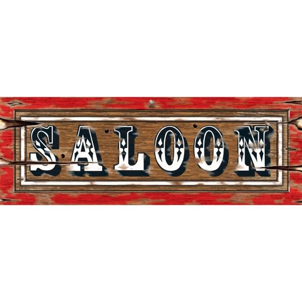 Party-Extra Cutout Schild Saloon -- Western Deko
