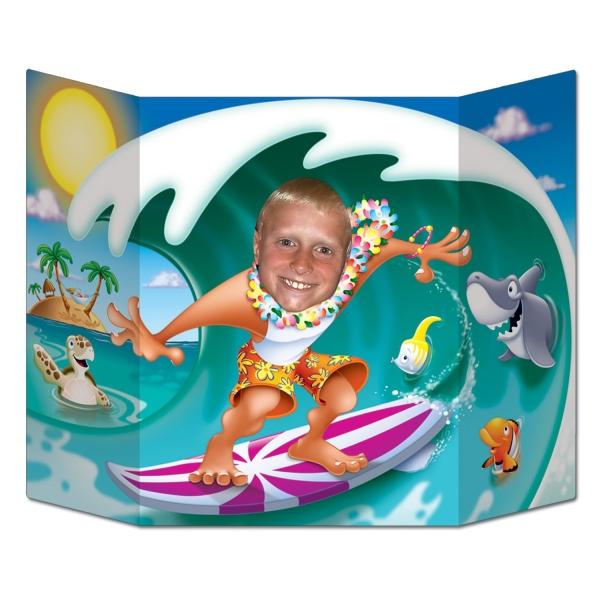 Fotowand Aufsteller Beachboy - Hawaii Beachparty Deko