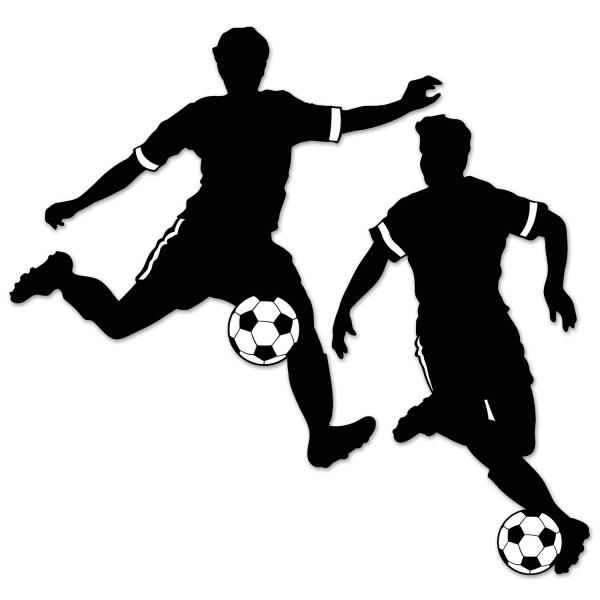 Fussballspieler Silhouetten - Fussball Deko