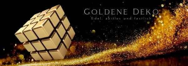 Goldene Deko festlich + edel M