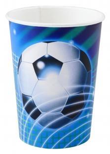 Party-Extra Große Fußball-Pappbecher - Fußball Tischdeko