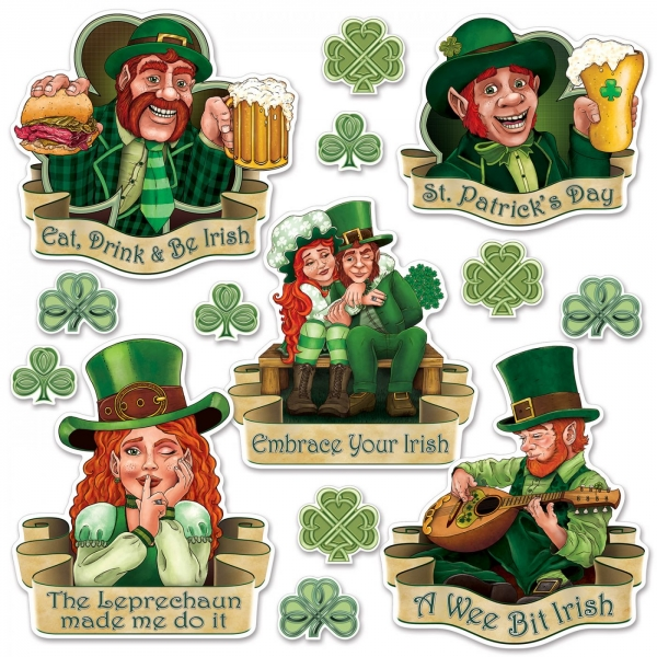 Irland Cutout-Set - St. Patricks Day Deko