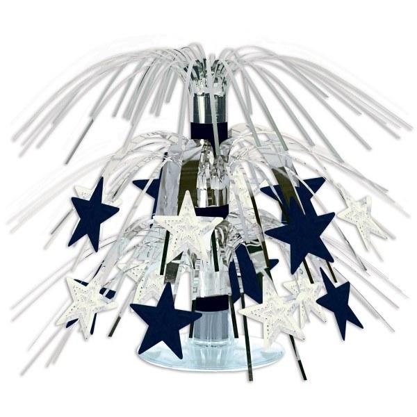 Mini-Tischkaskade Silver Starlight, 19 cm - Silvester Party Deko