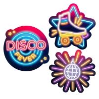 Cutout-Set Disco Inferno - Discoparty Deko