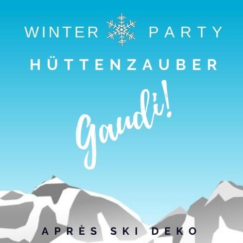 Après Ski Huettenzauber Winterdeko D