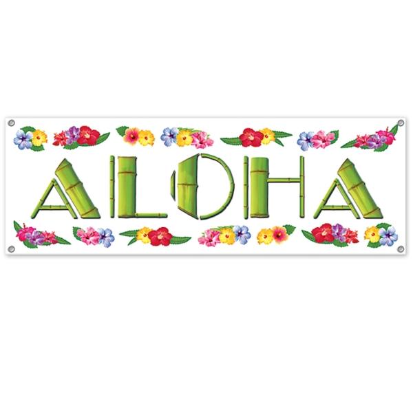 Mega-Partybanner Aloha - Beachparty Deko