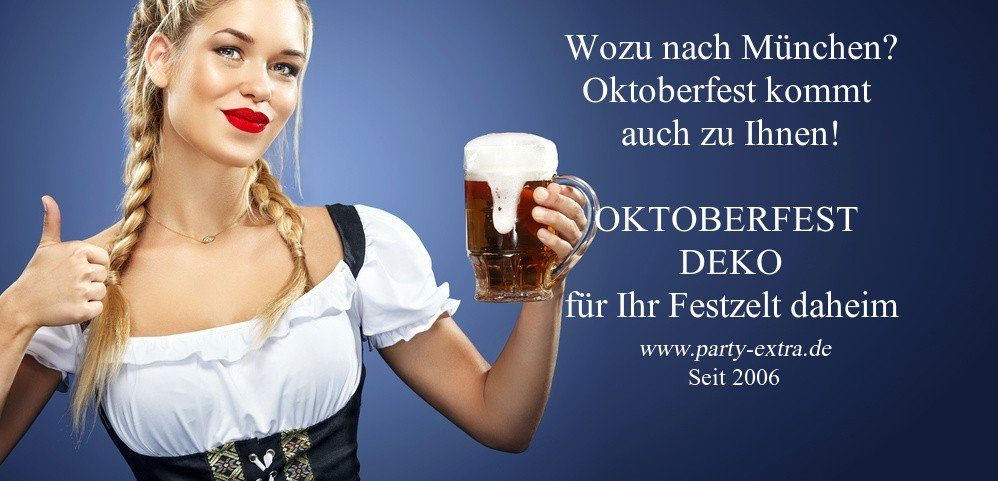 oktoberfest deko f r ihr festzelt daheim party extra. Black Bedroom Furniture Sets. Home Design Ideas