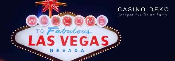 Casino Las Vegas Poker Party Deko Jackpot M