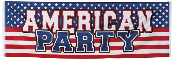 Mega-Partybanner American Party - USA Deko