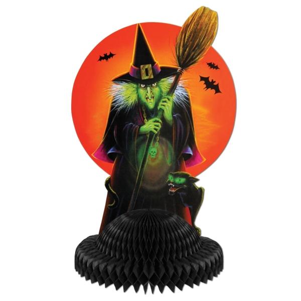 Tischdeko Horror-Hexe - Halloween Gruselparty Deko