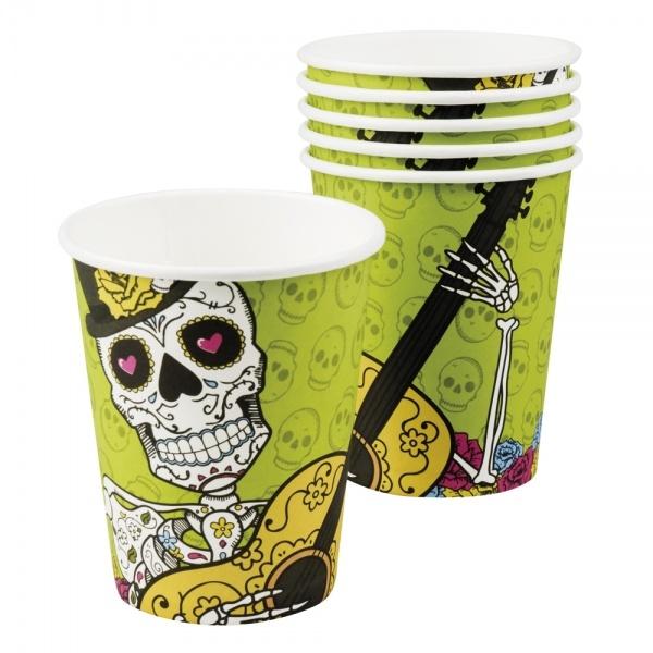 Pappbecher Sugar Skull Mexikoparty - Dia de los Muertos Tischdeko