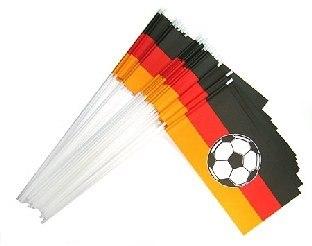 Papierfähnchen Koenig Fussball - Deutschland Deko